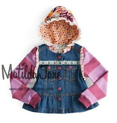 MATILDA JANE Once Upon A Time LABYRINTH Hooded Jean Jacket Girls Size 6 (3-102)