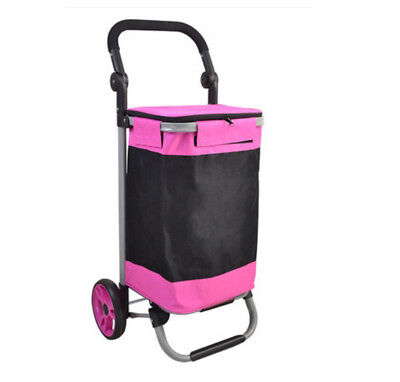 E142 Rugged Aluminium Luggage Trolley Hand Truck Folding Foldable Shopping Cart