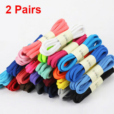 2pairs Oval Athletic Running Tennis Shoe Lace Hiking Shoelaces Sneaker Strings