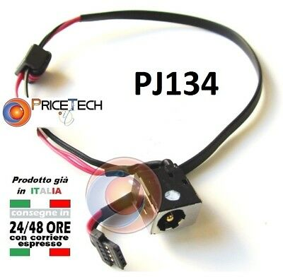 Connettore Alimentazione DC Power jack PJ134 1,65mm 24Cm Acer Aspire One KAV60