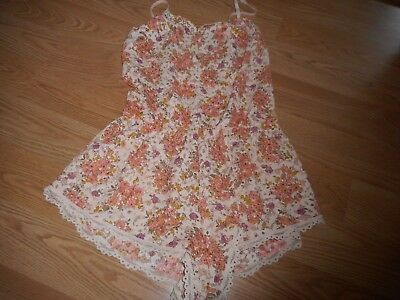 Victoria Secret Size X-Small Multi-Color Lace Sleep Romper Teddy New With Tags!