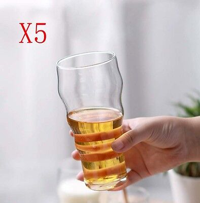 New 5X Capacity 458ML Height 165MM Creative Wave Whisky Wine Glass/Glassware %