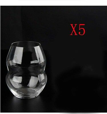 New 5X Capacity 380ML Height 100MM Creative White Wine Glass/Glassware %