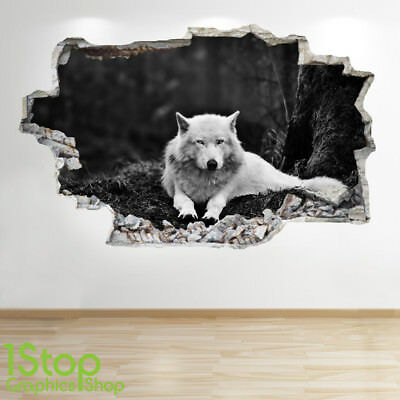 Wolf Wall Sticker 3D Look - Bedroom Lounge Nature Animal Wall Decal Z538