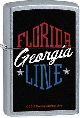 "Zippo ""Florida Georgia Line"" Street Chrome Finish Lighter, Full Size, 29053"