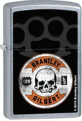 "Zippo ""Brantley Gilbert"" Street Chrome Finish Lighter, Full Size,  28995"