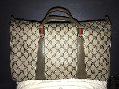 Crazy Nwot Vintage Gucci Monogram Handbag Late 70S Early 80S