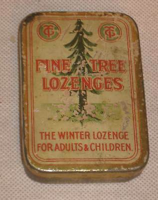 Vintage Antique Pine Tree Lozenges Metal Hinged Tin Medicine Cabinet Early 1900s