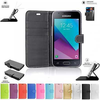 Samsung Galaxy J1 Mini Prime Book Pouch Cover Case Wallet Leather Phone