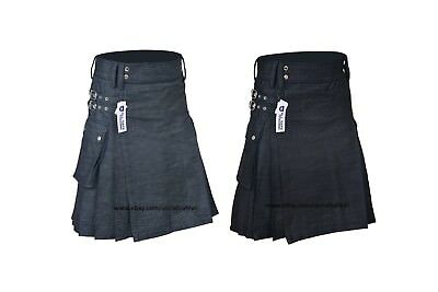 STYLISH DENIM KILT FOR STYLISH MEN | Made To Measure | Available in 2 Colors