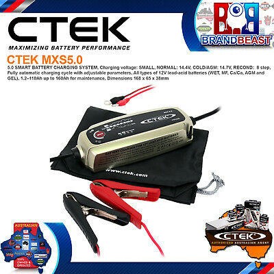 Ctek MXS 5.0 12 Volt 5 Amp 5a Battery Charger Deep Cycle Agm Calcium MXS5.0