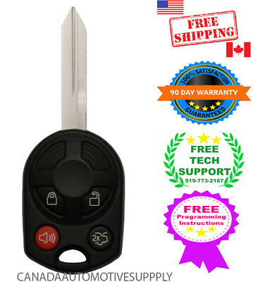 New Remote Key Fits Ford Mustang Fusion Escape 80 Bit Chip Keyless Fob 164-R7040