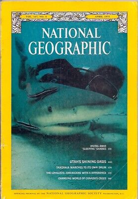 "national geographic-APR 1975-""SLEEPING"" SHARKS."