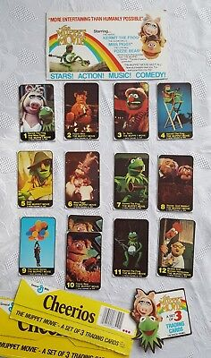 Muppet Movie Cheerios Collectors Cards 1979.  Complete vintage set!  Great shape