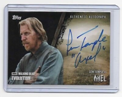 2017 Topps The Walking Dead Evolution LEW TEMPLE as AXEL Auto Autograph #/50
