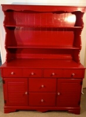 Hutch / Server / RED / Cabinets /Antique
