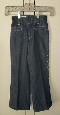 "Vintage Children's ""Billy the Kid"" Jeans/Pants, Western, Studded, Size 5/6 Slim?"