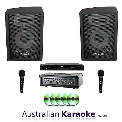 NEW Complete Commercial CDG Karaoke System 100W With 40 Discs