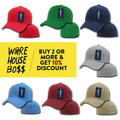 pretty nice af618 ca817 Decky 402 Mens Classic Hat Fitted Hats Pre-Curved Bill Baseball Cap Boys  Caps