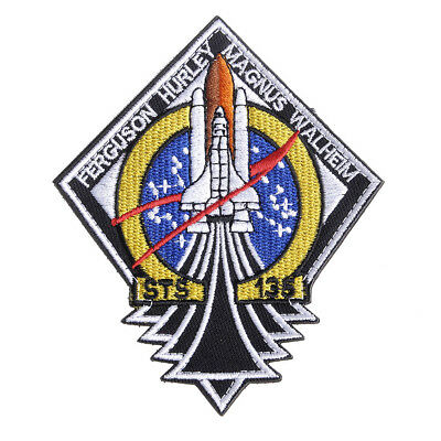NASA Official STS-135 Embroidery Patch The Last Space Shuttle Mission Patch
