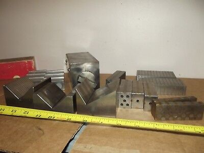 machinist lot brown & sharpe 255 magnetic block V blocks paralles taft pierce