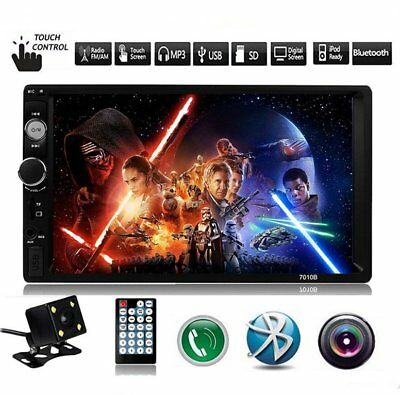 """7""""Double DIN Car Auto DVD Touch Screen In Dash Stereo Radio MP5 Player+ Camera"""