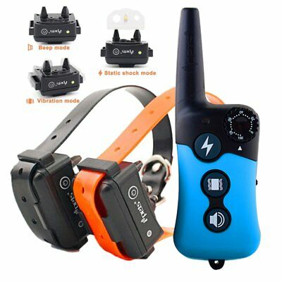 Rechargeable Dog Training Bark Collar Electric Shock Pet Trainer Remote 330 Yard