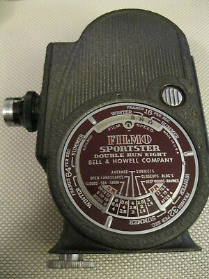 Filmo Sportster Double Run Eight Bell and Howell Company 8mm Camera & Case