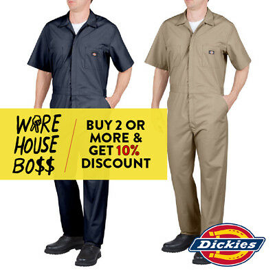 Dickies # 33999 Mens Coveralls Short Sleeve Mechanics Uniform Jumpsuit Work-Wear