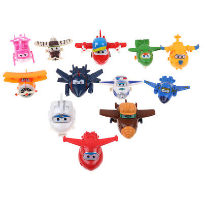 12pcs Super Wings Large Robot Transforming to Plane Helicopter Model Toy Gift US