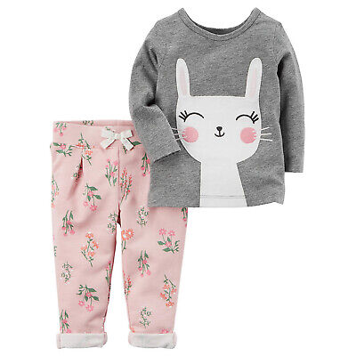 New Carters Baby Girls 2 Piece Top &  Pant/Legging Set Everyday Wear NWT