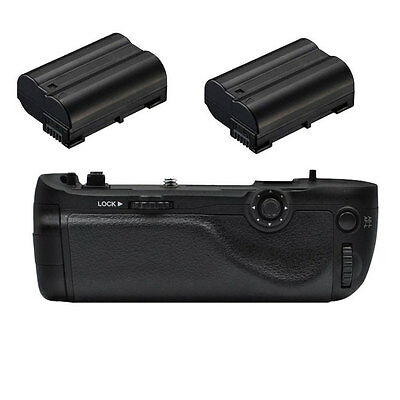 Multi-Power Shutter Battery Grip for Nikon D750 +2X EN-EL15 SLR Camera as MB-D16