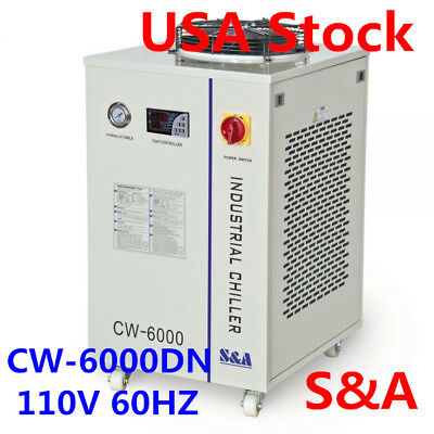 S&A CW-6000 Industrial Water Chiller for 100W Solid-state Laser/22KW CNC Spindle