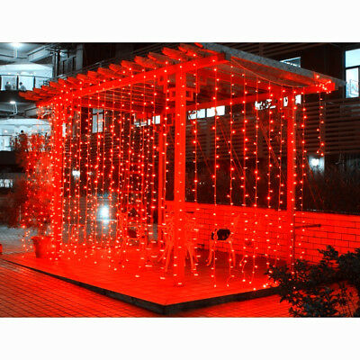 10Mx3M 1000 LED Curtain String Fairy Light Waterproof Outdoor Wedding Xmas Party