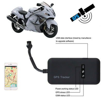 Motorcycle Mini GPS Tracker Locator GSM GPRS Real Time Tracking Antitheft Device