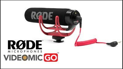 Rode VideoMic GO On-Camera Shotgun Microphone for Canon, Nikon, Sony, DSLR.
