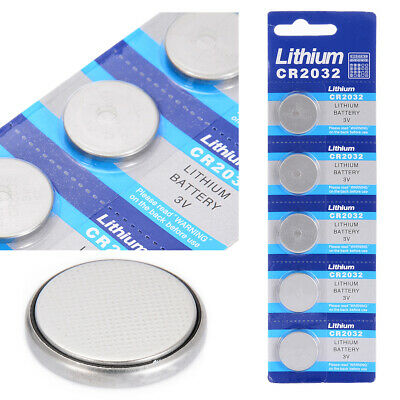 5Pcs CR2032 3 Volt Coin Button Cell Battery For Watches Toys Remote Battery Pack