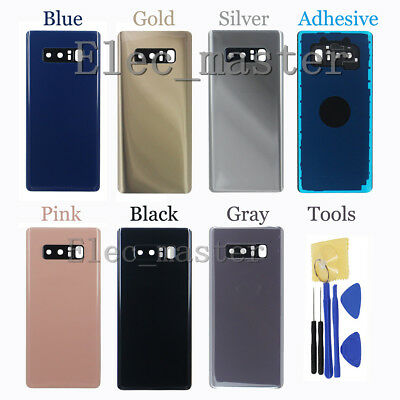 For Samsung Galaxy Note 8 Battery Cover Housing Back Door Glass + Camera Frame