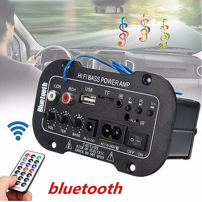 220V / 50W Auto Bluetooth HiFi Bass Stereo Verstärker Amplifier USB SD TF MP3 FM