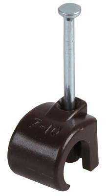 Cable Clip 7-10Mm Round Brown 100/pk - Arc8