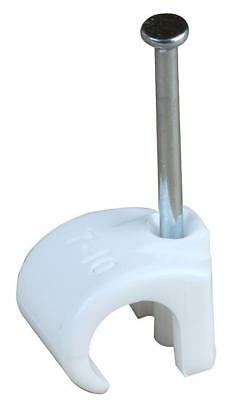 Cable Clip 5-7Mm Round White 100/Pk - Arc6