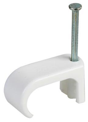 Cable Clips 11 X 22Mm White 100/pk - Afwc1
