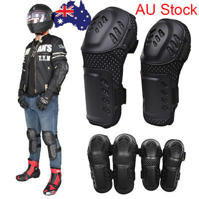 4Pcs Motocross Elbow Knee Pad Motorcycle Racing Protector Gear Shin Guard Armor