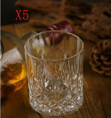 New 5X Capacity 300ML Height 94MM Transparent Whisky Wine Glass/Glassware %