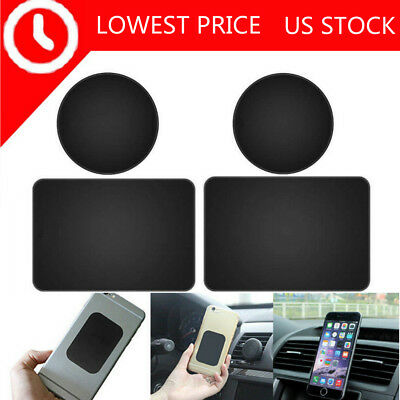 4Pc Replacement Mount Metal Plate Adhesive Sticker for Magnetic Phone Car Holder