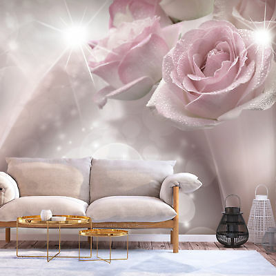 Photo Wallpaper Art Picture Rose Pink Flowers b-C-0200-a-a