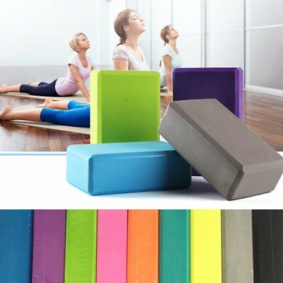 Yoga Block Pilates Foam Foaming Brick Fitness Exercise Stretch Health Eco Safe