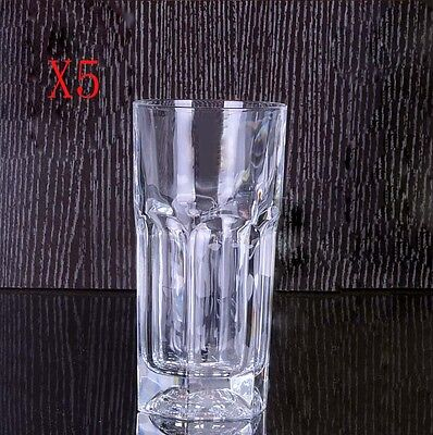 New 5X Capacity 370ML Height 153MM Straight Body Whisky Wine Glass/Glassware %