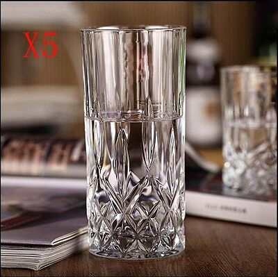New 5X Capacity 350ML Height 150MM Transparent Whisky Wine Glass/Glassware %