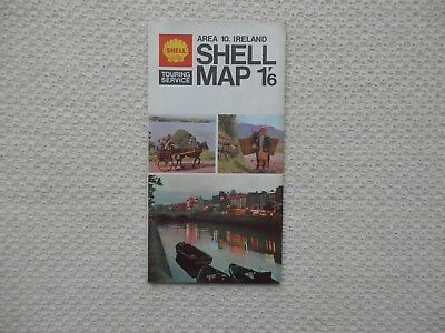 SHELL Road Map of IRELAND number 10 dated 1968 new old stock